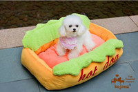 Wholesale beautiful removable washable Hot Dog Dog Bed cat bed pet bed size cm about KG per piece