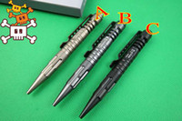 Wholesale 2014 New LAIX B5 Black Gray Gold Tactical pen Defense Survival Portable Survival Pens Aviation Aluminum Camping security Tool pocket knife