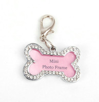 Wholesale 5016 Pet Products Dog Supplies Pet Dog Charm ID Tag Rhinestone Frames Fashion Cute Hot Sale Good Quality