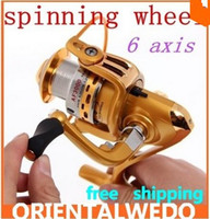 Cheap Fishing tackle AF3000 6 shaft full metal fishing vessel fishing line fish reel spinning wheel GOLD TOP SALE FREE SHIPPING