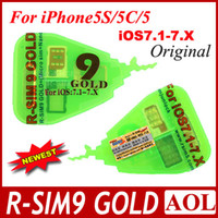 Wholesale Newest R SIM R SIM RSIM GOLD golden Unlock SIM Card micro silm nano for iphone C S G IOS X IOS ATT T MOBILE SB