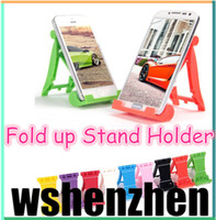 Cheap New Fold up Stand Holder Desk Mount Bracket For iPad 2 3 4 5 mini for iphone 4 4S 5S 5c Tablet PC galaxy s3 s4 s5 note 3 free shipping