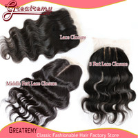 100% Brazilian Indian Malaysian Peruvian Human Lace Closure ...
