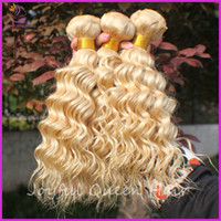 Brazilian Hair hair weaving  3piece /lot Amazing new style 613# color Brazilain virgin hair Blonde human hair weave curly Brazilian deep curly hair 3pcs lot free shipping