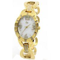 Wholesale Gold Winner Brand New Fashion Casual Elegant Women Girl Diamond Gold Quartz Wristwatch Waterproof Stainless Steel Watches GW180039