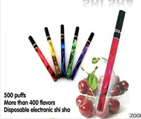 e-shisha 3.3-4.2V up to 800 puffs (test by machine) Wholesale - HOT E ShiSha Pen Disposable E Cigarette 280mAh E-Hookah Pipe Stick Electronic Cigarettes 500 800 Puffs 15 Fruit flavor hookah