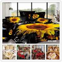 Wholesale SET D bedding set with Fitted sheet Rubber around bed linen d King size Duvet Cover