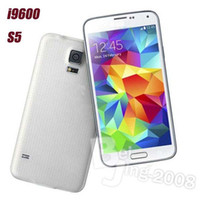 Wholesale 5 inch I9600 S5 Air Gesture Android WiFi Dual Core MTK6582 Single SIM WCDMA G Unlocked Smart G Mobile Phone DHL Free