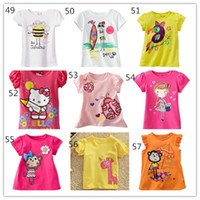 Wholesale 2014 Summer New Children s Day Clothing Girls Short Sleeve Tshirts Top Kids Cartoon Tshirt Tee Jumping Beans Baby Clothes Styles D2629