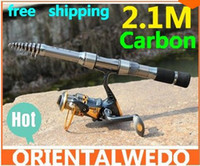 Wholesale fishing rod carbon lure rod spinning telescopic fishing rods fishing pole Power fishing tackle tool hot sale