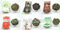 al por mayor bolsita de té del lapsang-Promoción 12 bolsos Té verde de la leche de la pérdida de peso orgánica superior de Oolong té verde chino de TiKuanYin, té negro Lapsang Souchong + regalo secreto