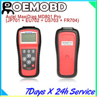 Wholesale Autel MD801 Pro MaxiDiag PRO MD Code Scanner in code scanner JP701 EU702 US703 FR704 multi language
