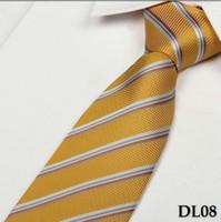 Wholesale yellow stripes necktie dress your shirt fashion men s tie neckwear mixed order retail OEM