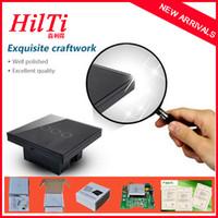 Сенсорную панель Цены-Китай Hilti Великобритания Модель управления сенсорный выключатель света 3 Gang, AC 220 ~ 240 В / 50 Гц ~ 60 Гц, Crystal закаленного стеклянная панель, сенсорный выключатель света