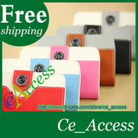 For Apple iPhone Leather Black 2014 NEW Fashion Wallet Leather Case Cover With Credit Card Holder For iphone 4 4S 5 5S 5C