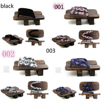 Wholesale New Japanese geta clogs men bidentate Flops color