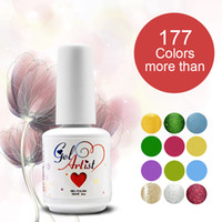 Soak-off Gel Polish Led uv gel 15ml 2014 New 177 Gelish Colors Arrive Free Shipping Nail Gel Polish Soak Off UV Gel Nail 24Pcs Lot
