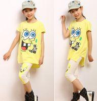 Girl Summer Long Korean Summer Kid Gilrs Lovely Cartoon Tops Children Candy Color Cute Short Sleeve T-shirt Kid Loose Round Collar Solid Tee Shirt I0120
