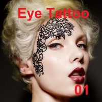 Wholesale Face lace eye shadow sticker YT01 eye makeup Artistic eye mask club party cosmetics face mask eye temporary tattoo