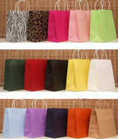 Wholesale kraft paper bag Christmas Festival gift package Fashion gift paper bag open tope Shopping bag