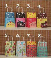 Wholesale EMS Style Cute Cartoon gift paper bag Mixed paper shopping bags gift cm K07600