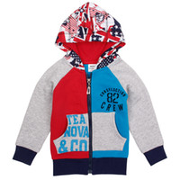Wholesale NOVA New arrival boys hoodies online full zip hoodies letter print designer jackets for kids A4315