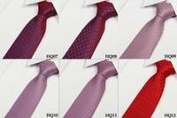 2014 Nuevo lazo de la corbata para el color púrpura rosado azul del negro de la rejilla de las tiras del color puro de los hombres 60pcs / lot