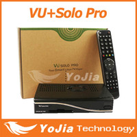 Receivers DVB-S  2pcs VU+ Solo Pro HD DVB-S2 Satellite Receiver Enigma 2 Mini VU+ Solo Youtube IPTV channels Broadcom 7325 fedex free shipping