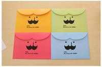 Wholesale South Korea Creative Cute Mustache Document Pouch Cartoon Folders Stationeries File Bags g