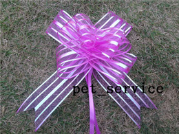Wholesale 20Pieces cm Fuchsia Organza Pull Bow Wedding Party Decoration Pull Bows Ribbons Wedding Bridal Xmas Decor Supplies Upick colors