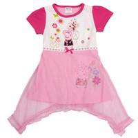 Wholesale 2014 summer Nova Peppa pig Girl s dress cotton short sleeves kids princess dress girl brand children No rules clothes dress A178