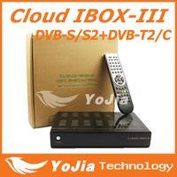 Wholesale 1pc Cloud ibox III HD Satellite Receiver with Twin Tuner DVBS S2 DVB T2 C cloud ibox Support OpenPLi Blackhole IPTV
