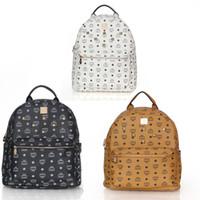 Wholesale women leather handbags MCM Backpack Bag Hot Sale New STARS LOVES Korean Punk Rivets PU Leather Style School bags bolsas femininas