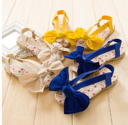 Wholesale NEW kids girl shoes sadals children Girls big bow shoe cool summer B14650
