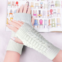 Wholesale 10pcs New Women Winter Wool Knit Knitted Fingerless Gloves Mitten Hand Wrist Warmer fx257
