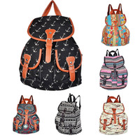 Wholesale S5Q Lady Ethnic Style Bookbag Travel Rucksack School Bag Satchel Canvas Backpack AAADCF