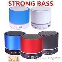 Wholesale S11 Bluetooth wireless portable speaker HiFi Player Bluetooth mini speaker with box Free DHL A