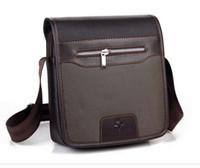 Wholesale 2014 Fashion Black Brown Brand PU Leather Men Shoulder Messenger Bags Tote Handbag For Men L637