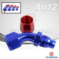 Wholesale 12AN AN DEGREE SWIVEL OIL FUEL GAS LINE HOSE END FITTING ADAPTOR CUTTER STYLE