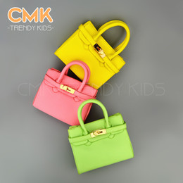 Wholesale CMK KB003 Ice Cream Colors Designer Small Tote With Scarf for Girls Kids with PU Leather Handbag Children s Bags gt Fast