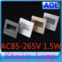 Wholesale Hot Fashion Stairs Lamp AC85 V W Epistar COB LED Embeded Step Light hallway emergency lighting of the corridor Sitting Room Aisle
