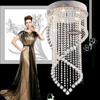 Wholesale Fast shipping New Modern Crystal Chandelier Light Fixture Crystal Pendant Ceiling Lamp Luster Prompt Shipping Guanrantee MD6874