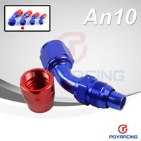 Wholesale 10AN AN DEGREE SWIVEL OIL FUEL GAS LINE HOSE END FITTING ADAPTOR CUTTER STYLE