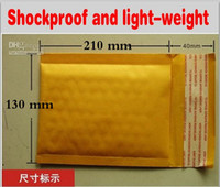 bubble envelope - 130 mm mm Yellow Kraft Paper Mail Envelope Bag PE Bubble Padded Envelopes Packing Bags Shipping Supplies Top Quality Free Delivery
