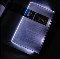 Yes Dry Battery Clear + Black Hot LED Book Wedge Reading Night Light Panel Led Reading Light Panel Light Wedge Paperback Creative LED Light Wedge Panel Book Reading Lamp