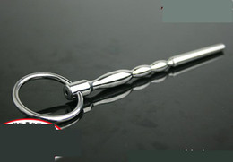 Novice Male Stainless Steel Catheter Tube Urethral Sounding Bead Stretching Stimulate Penis Plug Chastity Belt Device BDSM Sex toy 916