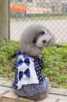 Wholesale 2014 New pet crown skirt Pet spotted bow skirt Pet clothing dog clothes pet dress