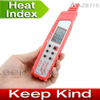 Wholesale AZ8715 Pen Type Heat stroke Preventer HEAT INDEX WEATHER CHECKER Meter Weather detector meter