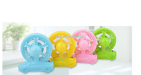 Wholesale Mini Fans Portable USBCandy colored compact USB battery dual wheel styling with a cute mini fan portable green energyPetit ventilateur