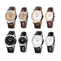 Wholesale Wrist Watch EYKI Fashion Classic Lover s Watch Quartz Leather Watchband EET8599 Women Men Ladies Watches Golden Black Coffee White H10414